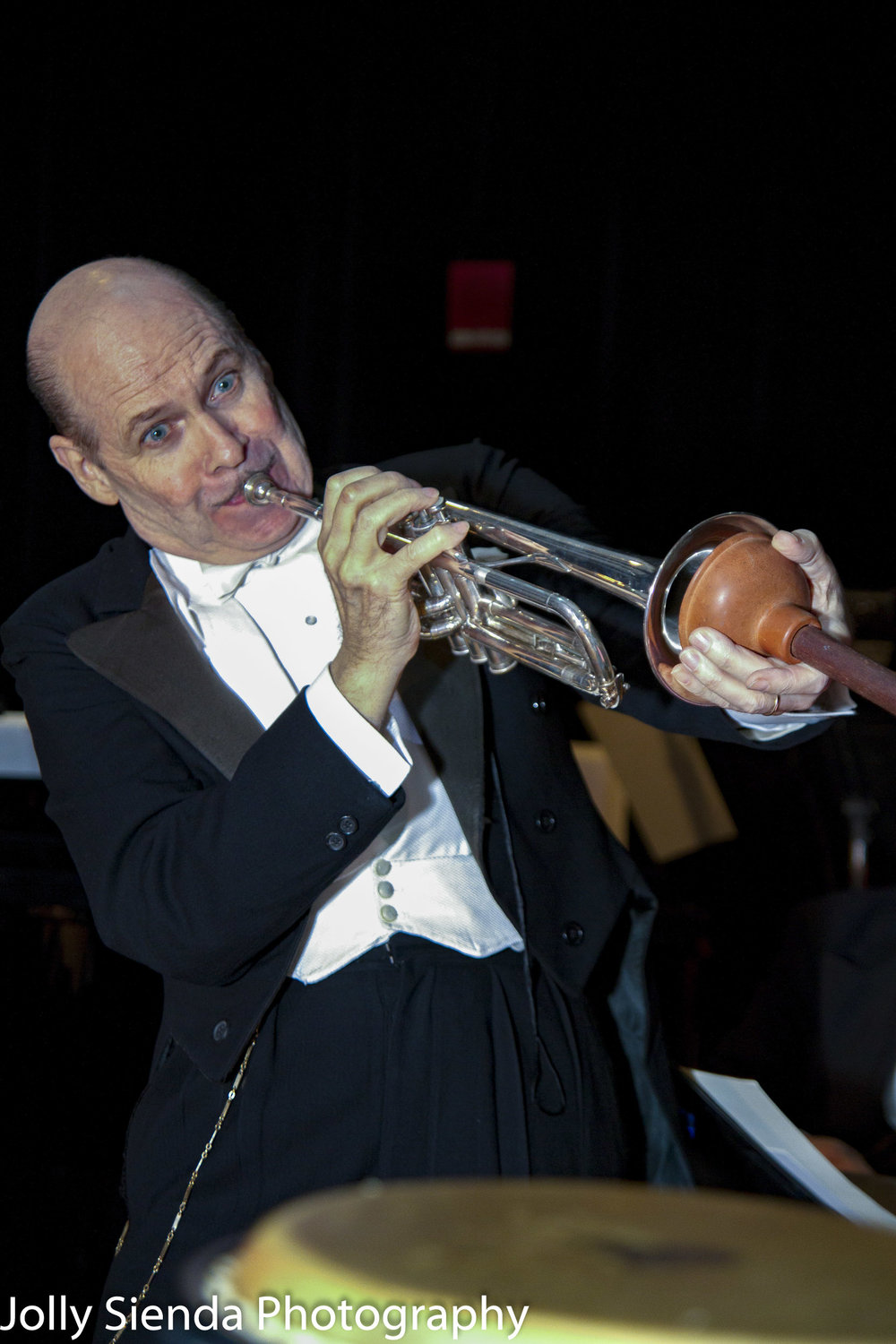 Doc Scantlin plays the trumpet