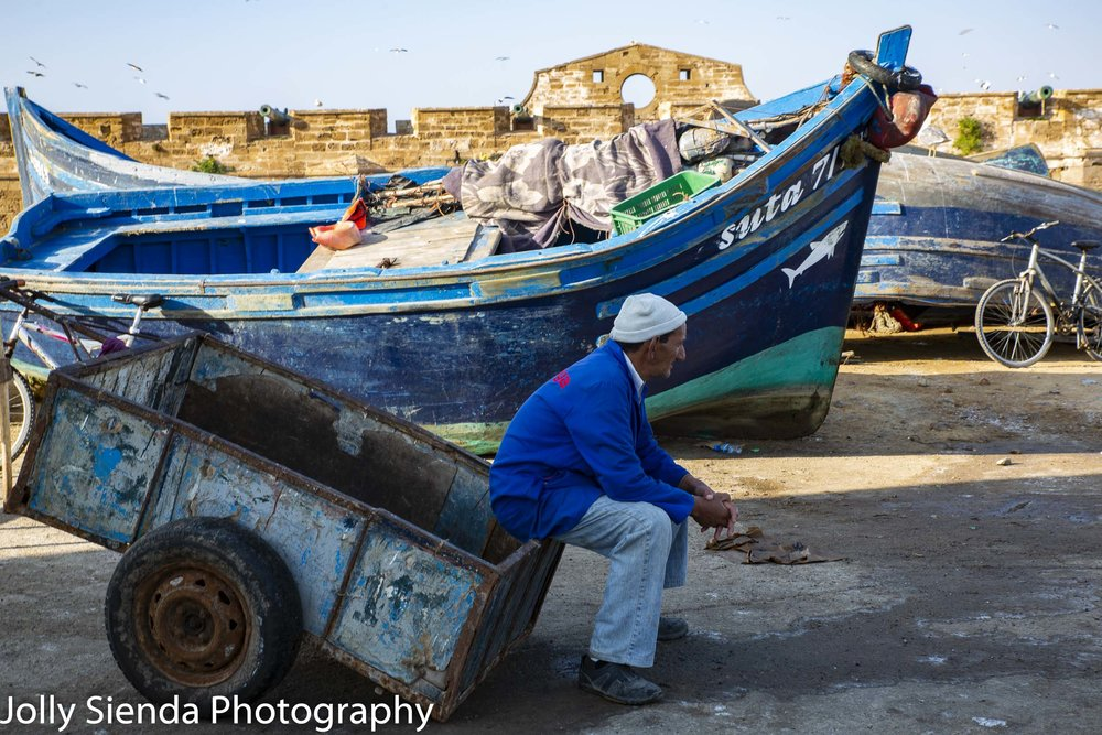 Fisherman waits for a boat