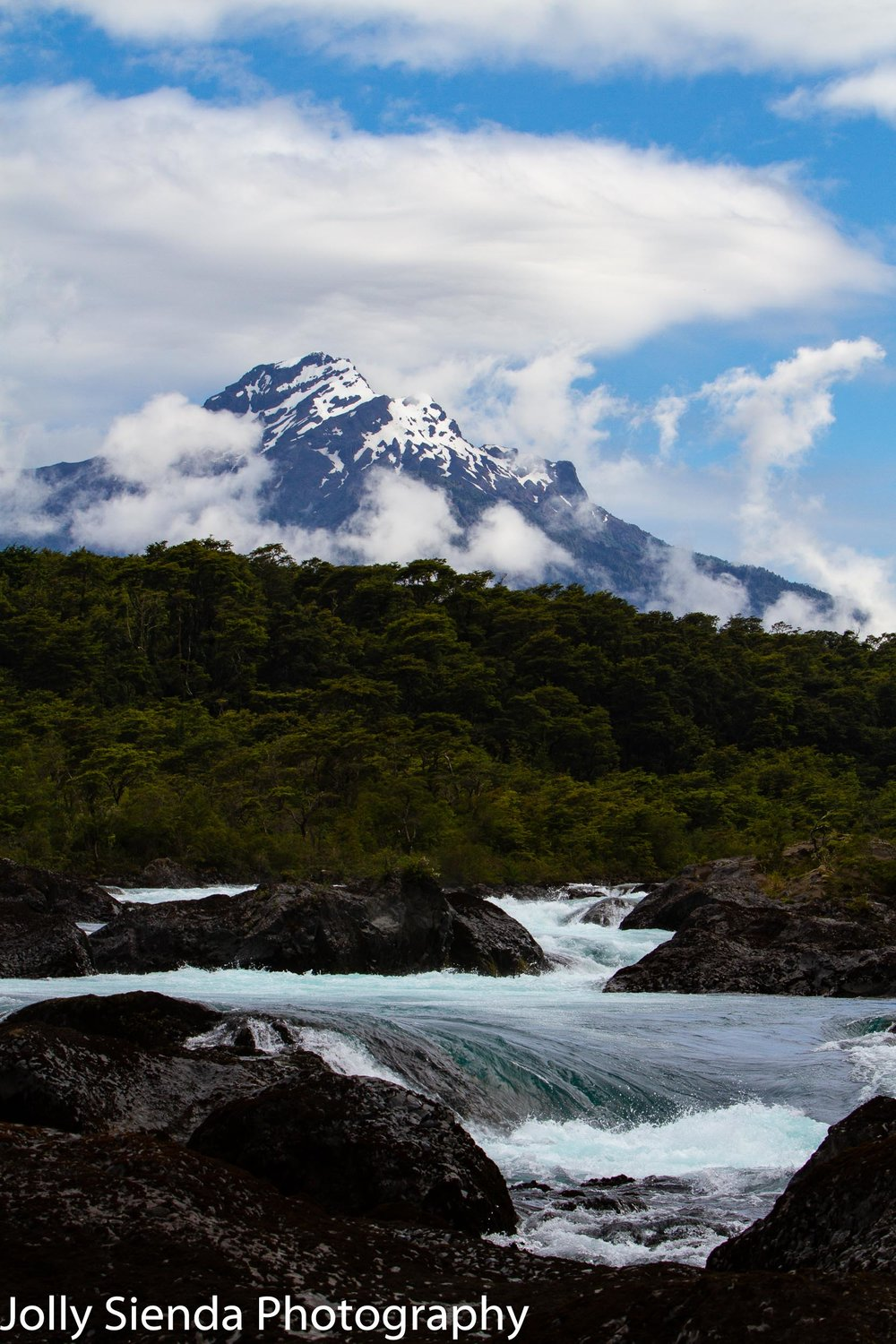 Osorno volcano and Petrohué Waterfall