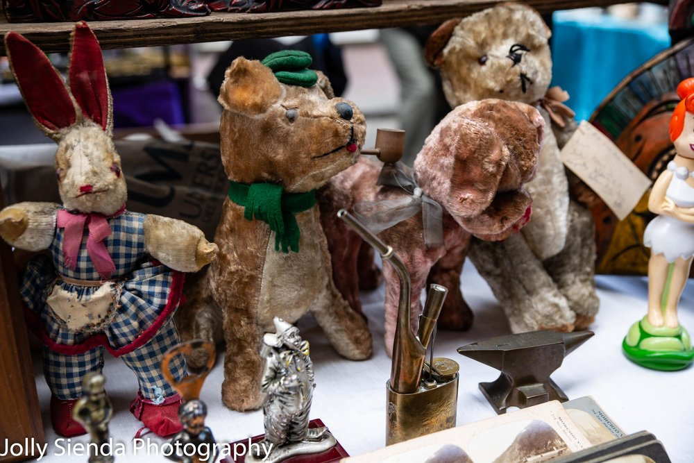 Collectable stuffed animals at the Sunday San Telmo collectable and antiques market, San Telmo, Argentina