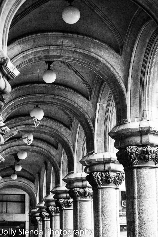 Corinthian Column stone archway rows