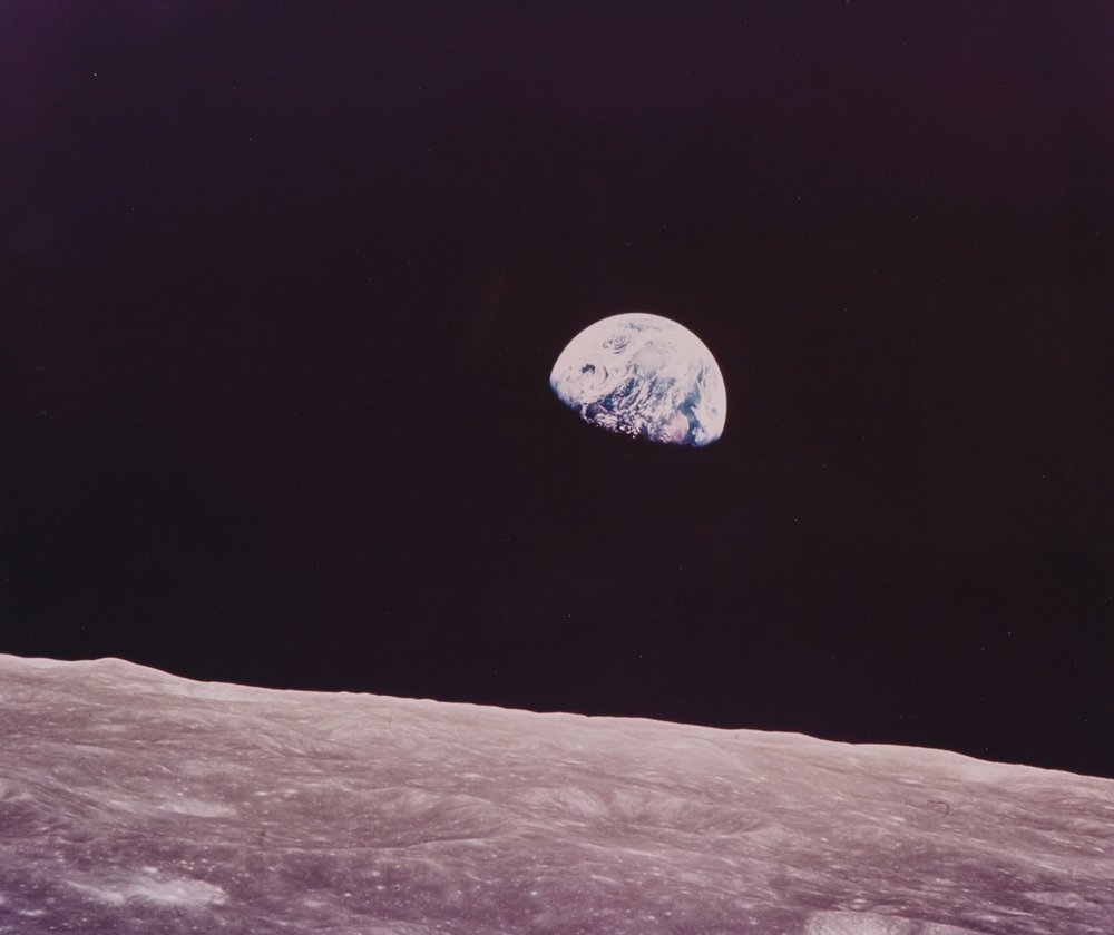 Earth seen from the Moon | Neil Armstrong