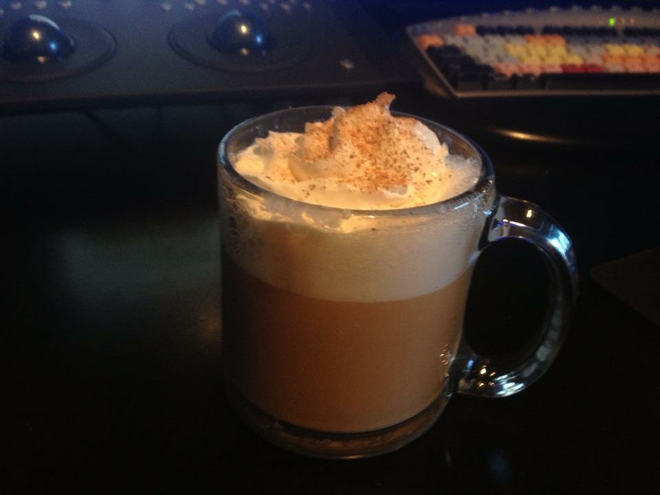 Egg Nog Late with Nutmeg - A favorite Holiday Treat for our Customers