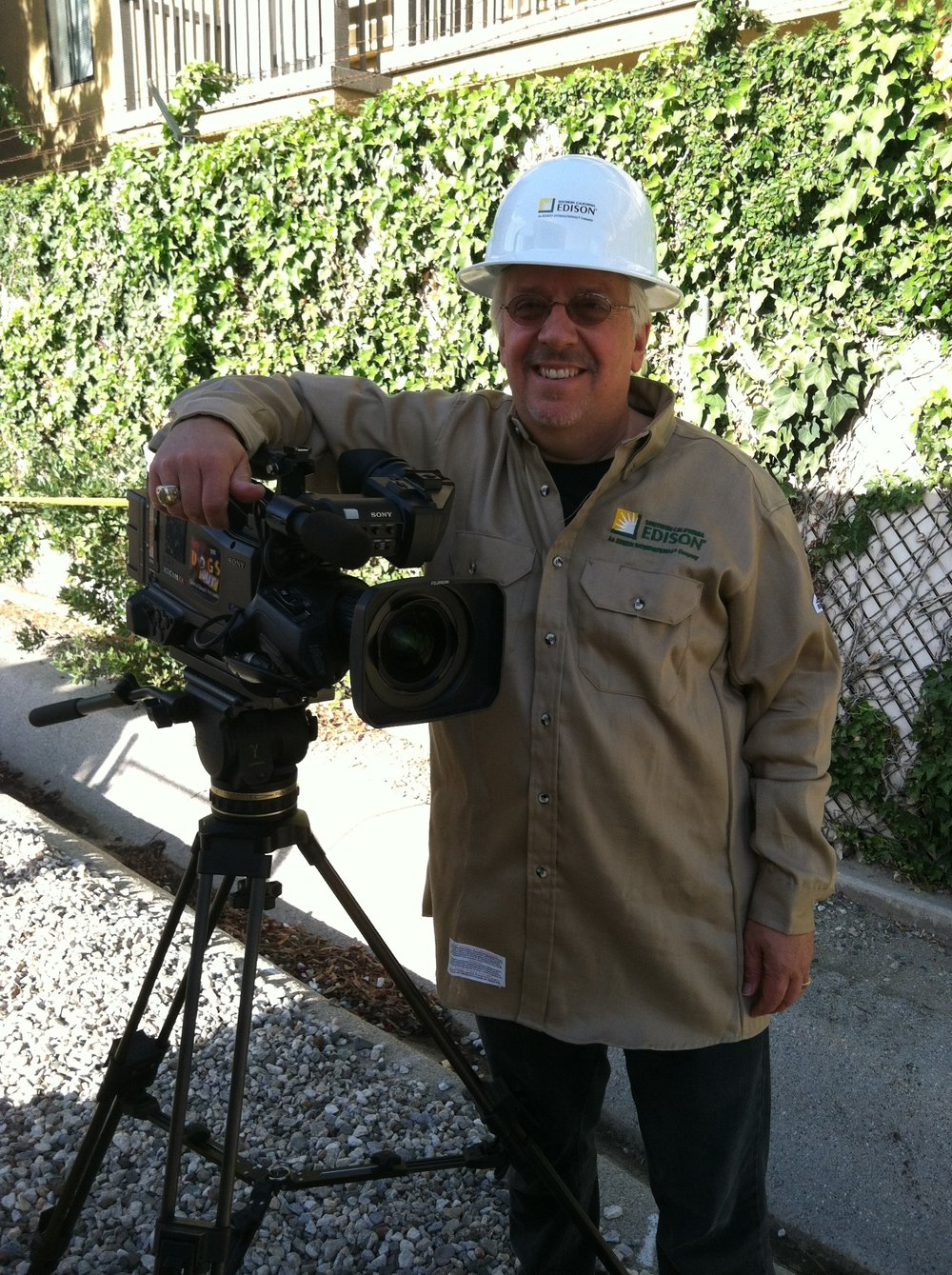 Southern California Edison-Training Videos, Emjay-inc. Producer   Whether we are climbing down into a vault or going up in the air in a sky box we will get the shot.