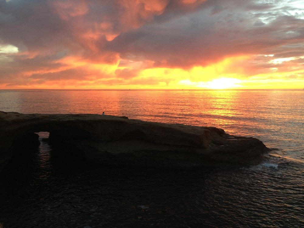 End of the work week sunset photo. Sunset Cliffs in San Diego.