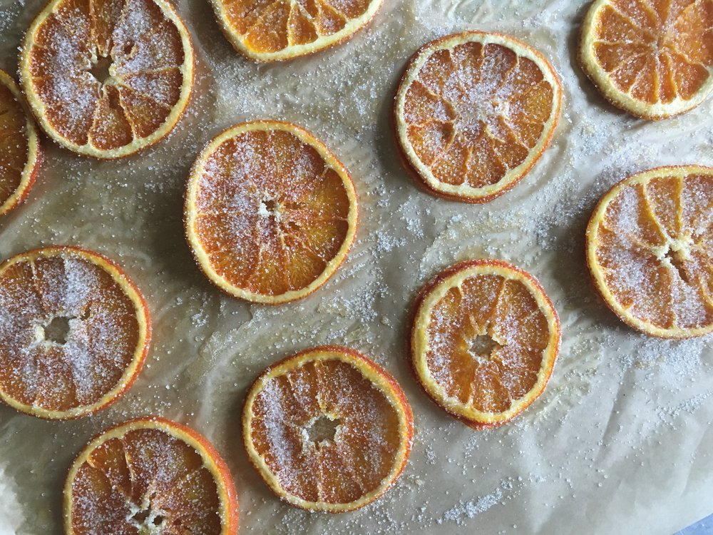 Sprinkle the dried slices with a bit more sugar and store in an airtight container and enjoy within a week or two.