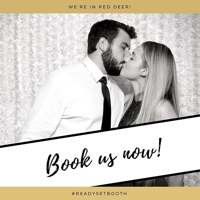 Get a photobooth or GIF booth at your wedding - we are now booking in RED DEER! Click the link in our bio to get on the list for EARLY BIRD pricing! 🐦 . . . . #reddeer #reddeeralberta #reddeerphotographer #reddeerphotography #reddeerlashes #reddeerwedding #reddeerhair #reddeerlashes #photobooth #readysetbooth #photo #gifbooth #reddeerdj #dj #party #wedding #bride #props #reddeerweddingphotographer