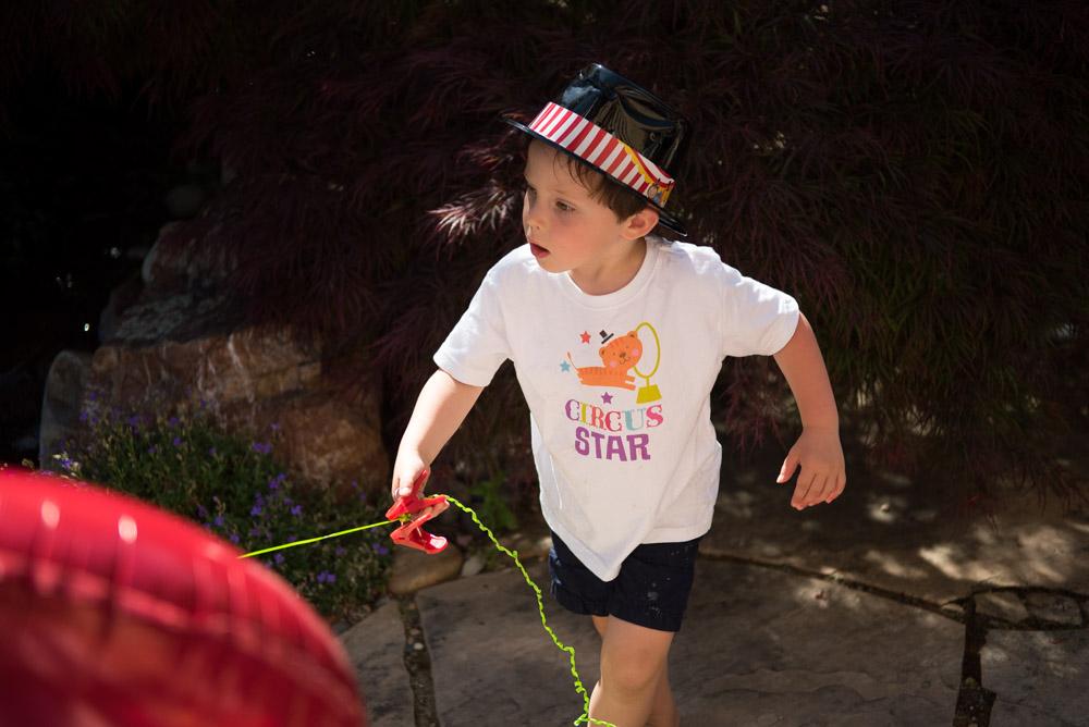Boy with balloon! - Los Altos Children's Birthday Party Photography