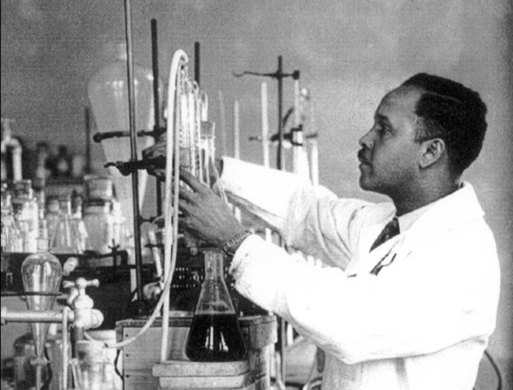 Percy Julian was a chemist who synthesized plant compounds into proteins and hormones to fight disease and cancer.