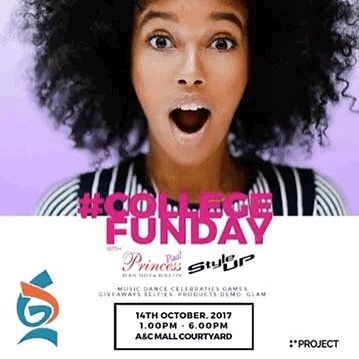 Hey #Ghana don't miss out on #collegefunday in Accra with #GhandourCosmetics details on the flyer 🤸🏾♀️🤸🏾♀️