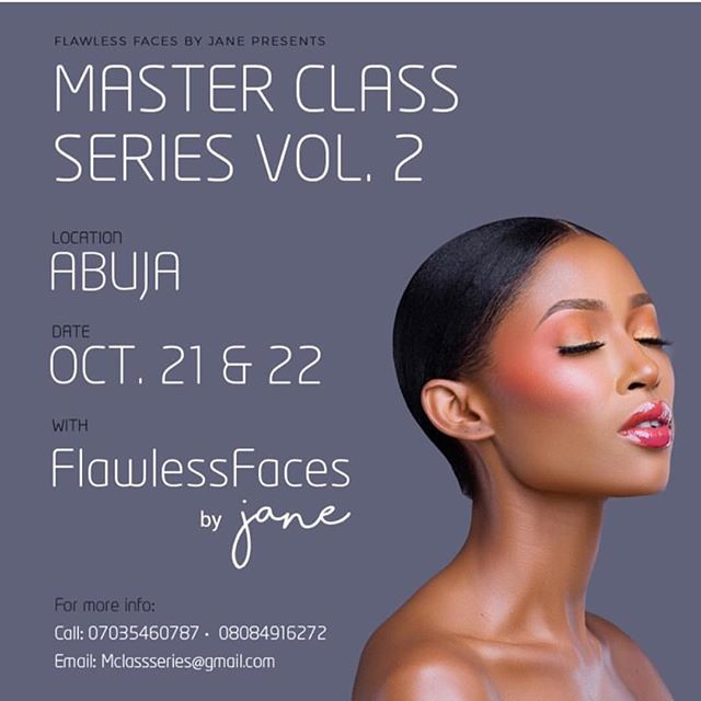 You know how much we love @flawlessfacesbyjane 's work! We are so excited @flawlessfacesbyjane masterclass is almost here 🤸🏾♀️🤸🏾♀️🤸🏾♀️ email mclassseries@gmail.com to attend!