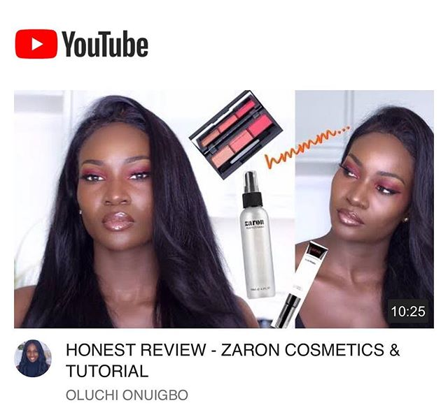 Hey guys! So we are going to be highlighting our favorite videos on @youtubenigeria @youtubeafrica and @youtube regularly so please tag us in your videos so we can share and get more people engaged in our makeup community. We ❤️ this video from @oluchionuigbo where she is reviewing @zaroncosmetics one of our favorite Nigerian brands. Check it out on her YouTube page and let us know what you think!
