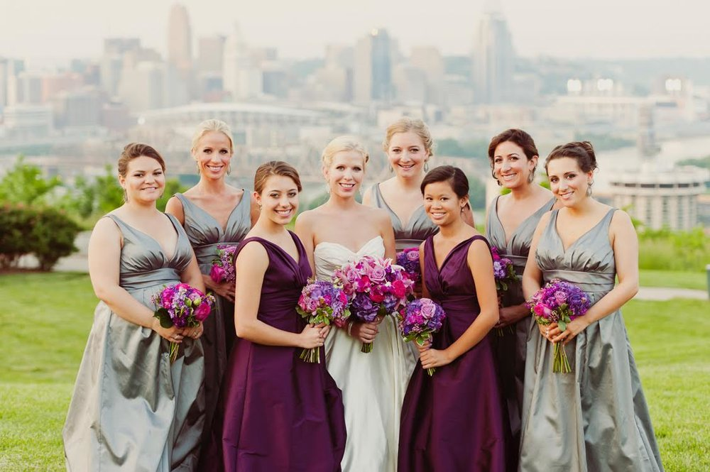 Purple and magenta wedding with florals by Yellow Canary. www.yellowcanaryonline.com