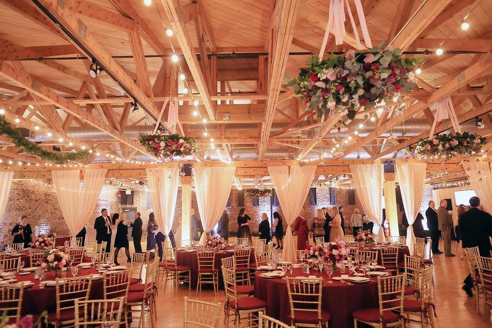 Blush and burgundy winter wedding at Cincinnati's Rhinegeist Brewery. Florals by Yellow Canary. www.yellowcanaryonline.com 6_o.jpg