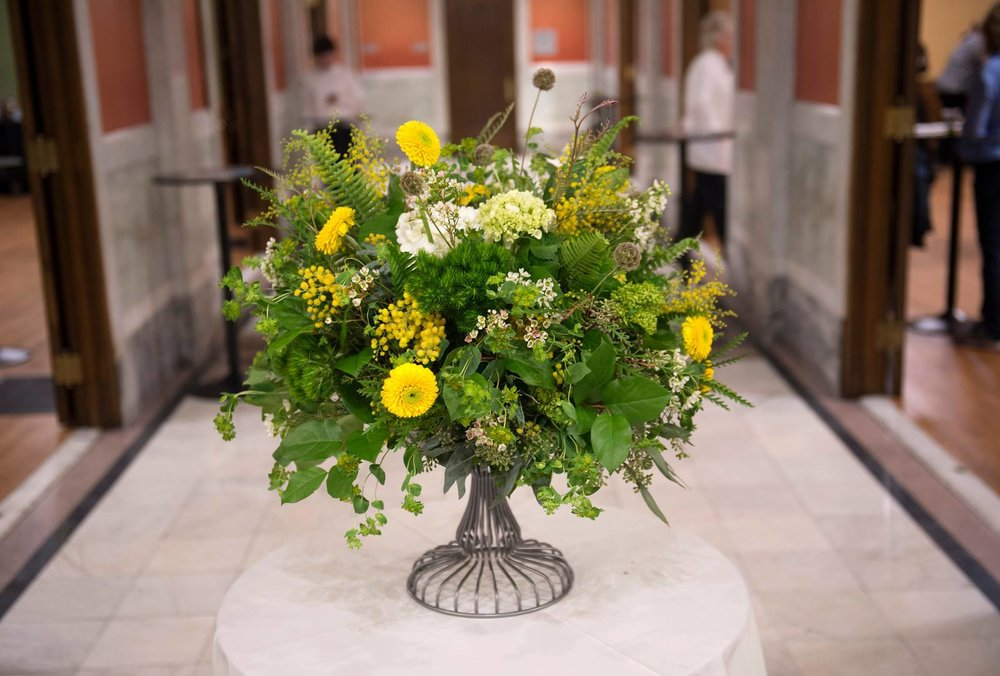 o these beautiful floral arrangements by Yellow Canary, which welcome ticket holders to Longworth-Anderson Series pre-concert receptions. Yellow Canary draws inspiration from many sources, including the rich world of art and architecture. You won't find a warmer, more beautiful welcome.