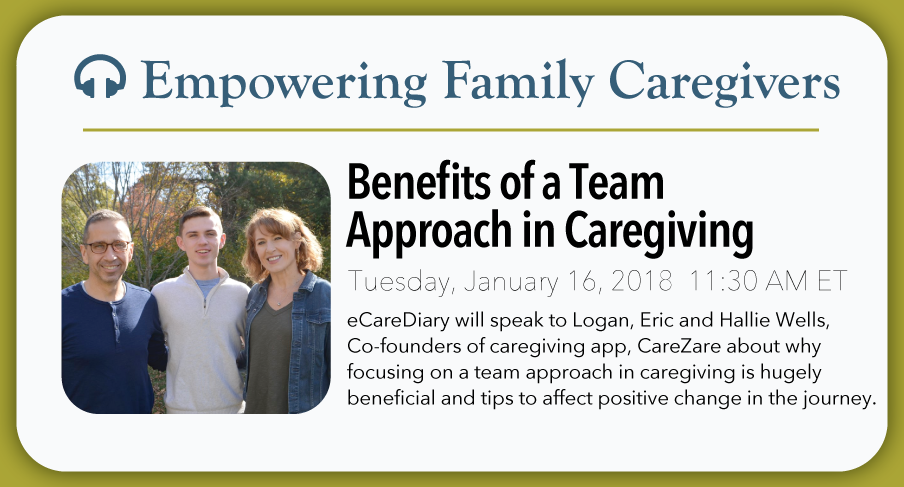 eCareDiary Empowering Family Caregiver Podcast - Benefits of a Team Approach in Caregiving