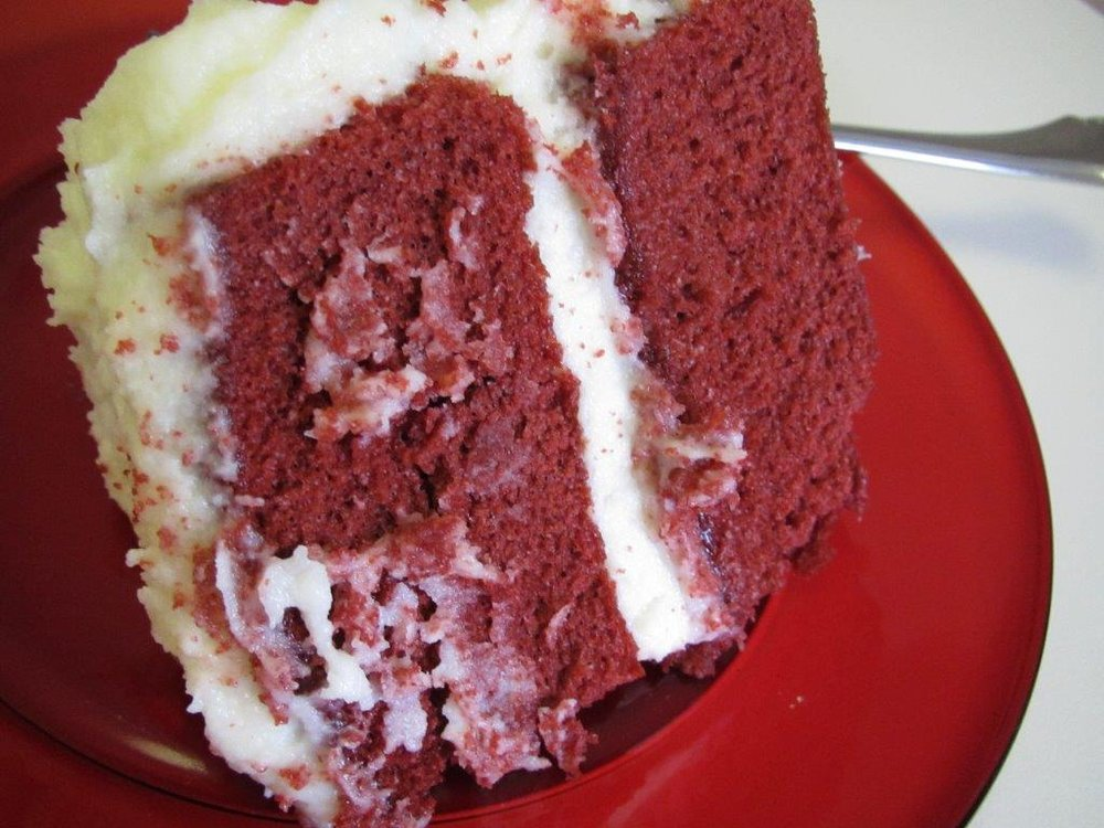 - Red Velvet Cake - The food with the most tradition this year. My mother use to make it from scratch. Now I buy it at the grocery store - making sure that it had cream cheese icing (not the icing that is mostly butter).