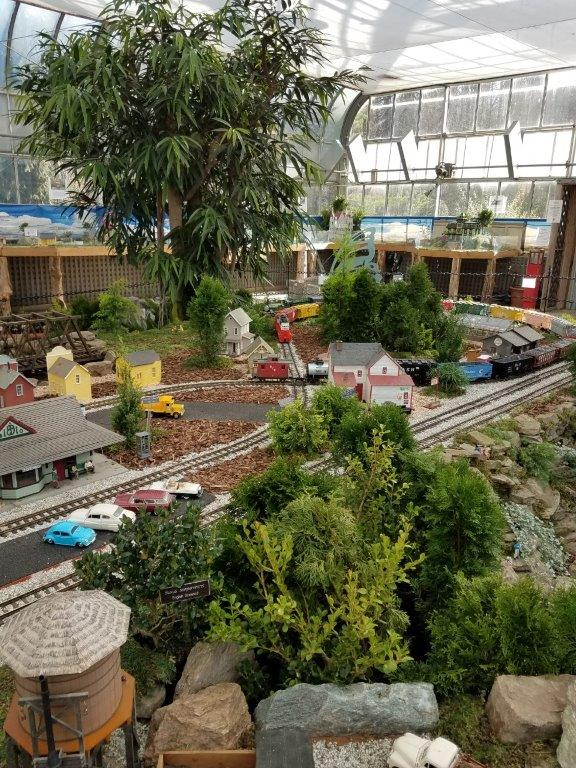 - And then there was the pre-staging of December activities that actually started in November: volunteering at the model train exhibit and