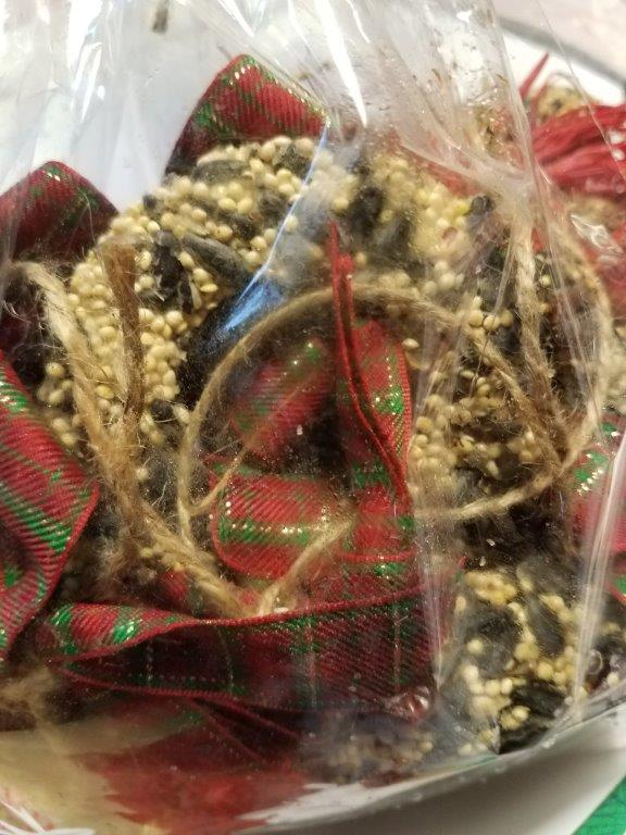 - Before I went to Texas there was the Howard County Conservancy's Natural Holiday Sale (ate lots of cookies and bought suet garlands from the garden club),