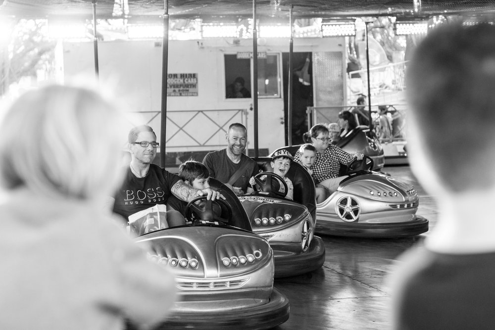 Lauren McAdam Photography Family Photographer Geelong Show Dodgem cars dad and son.jpg