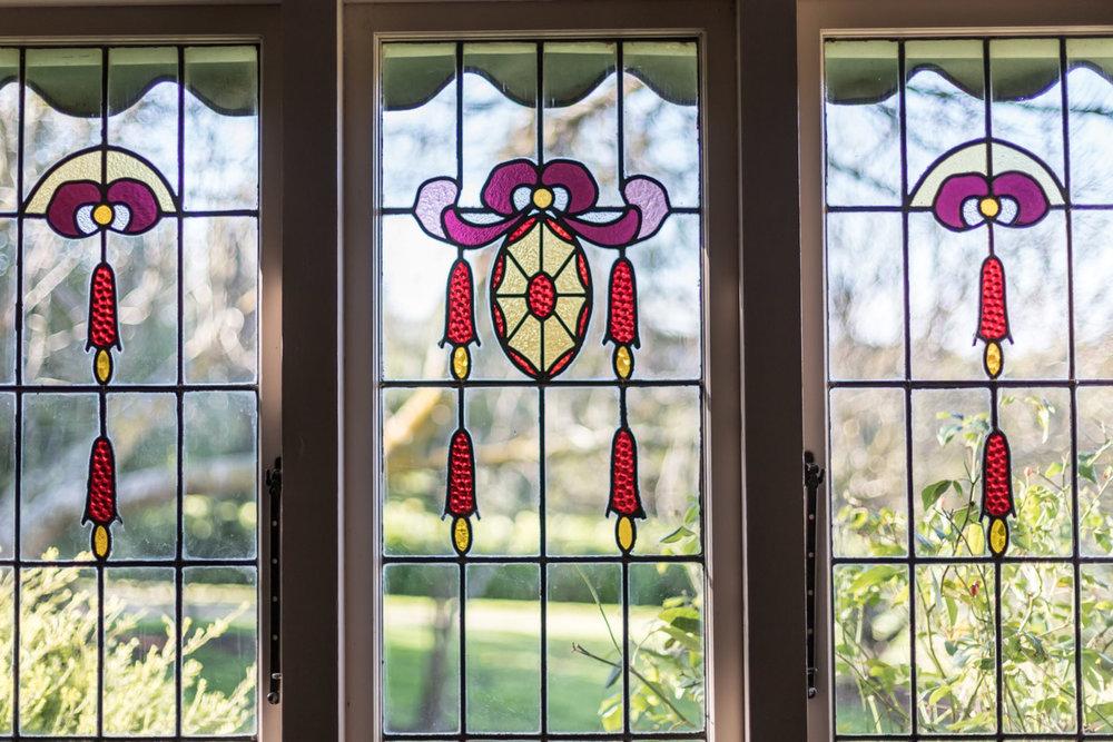 Beautiful leadlight window in old Geelong home