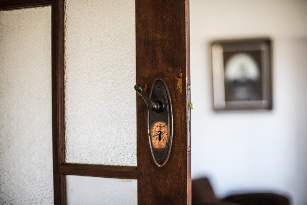Original door handle in old Geelong family home