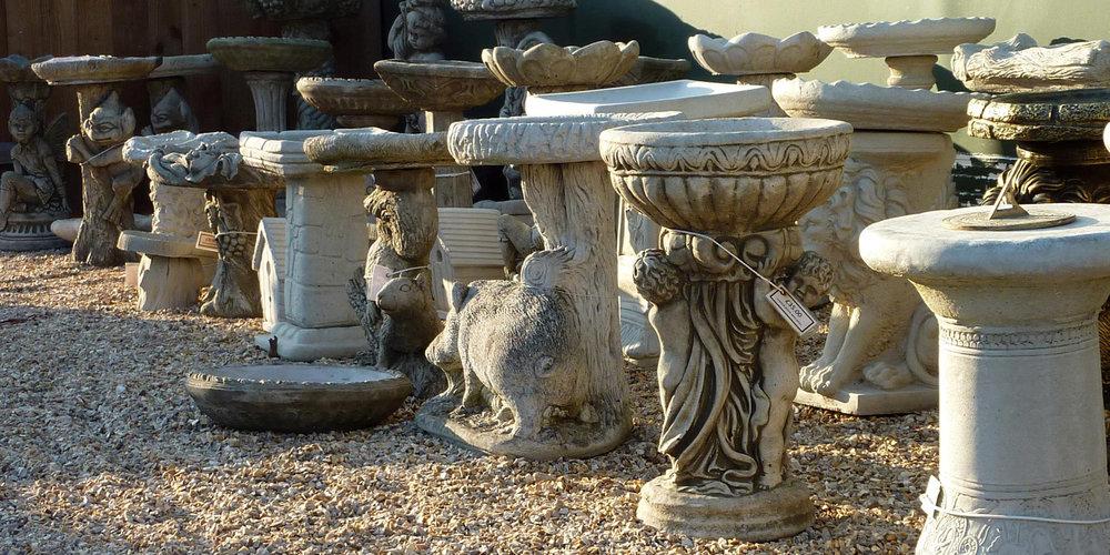 Cast In Stone garden ornaments Wendling Dereham bird baths