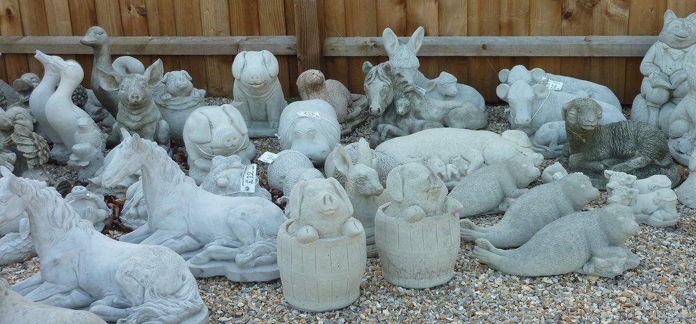 Cast In Stone garden ornaments Wendling Dereham animals horses