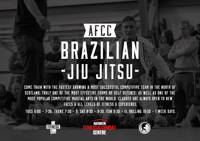 Poster created for the AFCC Brazilian Jiu Jitsu Program