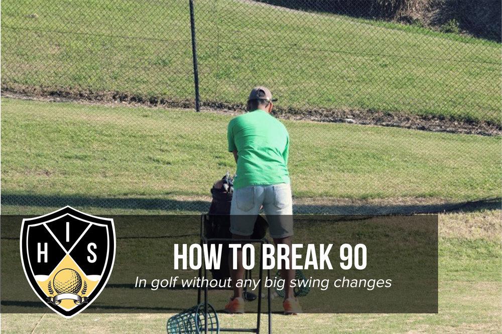 how to break 90 in golf