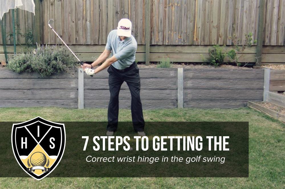 Wrist Hinge in Golf Swing