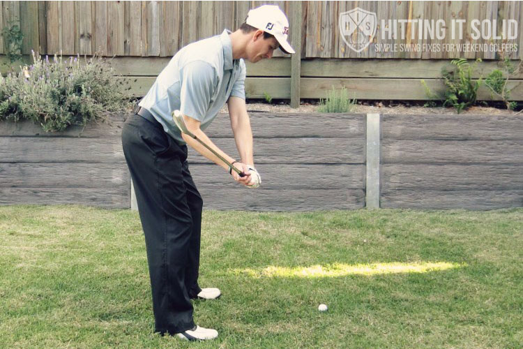How to fix an over the top golf swing and get into the slot position in the downswing