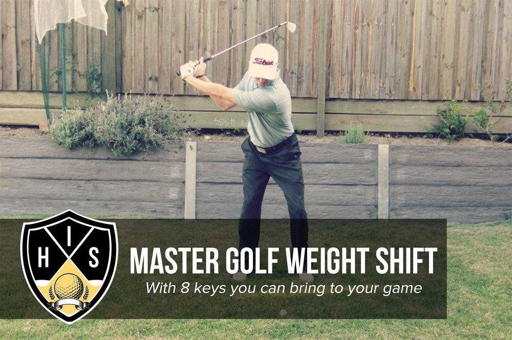 golf weight shift