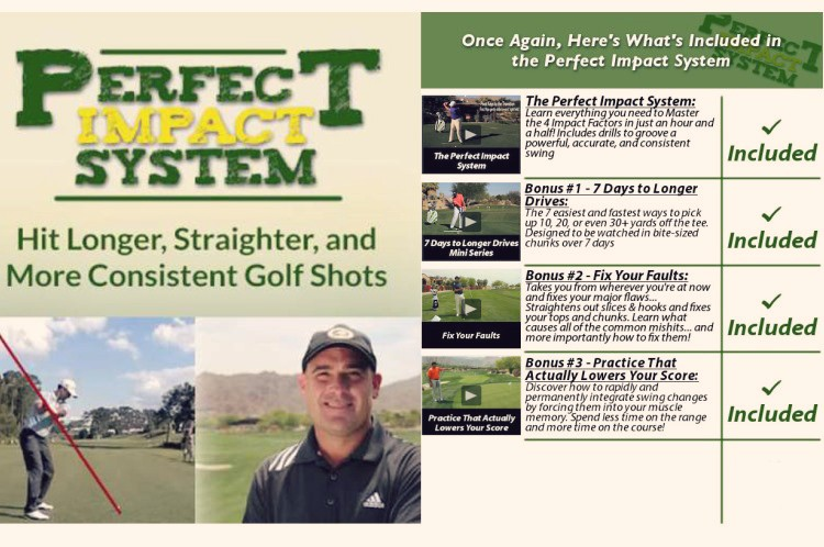 In this perfect impact system review you'll learn how to make great impact with the golf ball every time