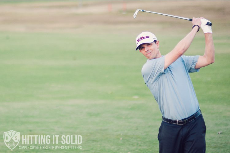 Fix your thin golf shots by following through like a touring pro
