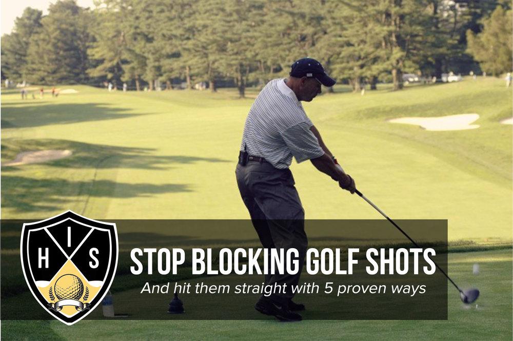 Blocking Golf Shots