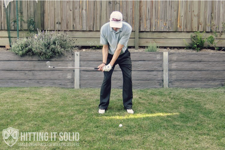 Increase your golf swing speed by getting the club parallel to the ground when the hands reach your right thigh in the downswing