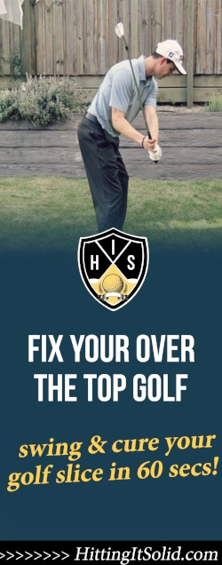 If you want to know how to stop your over the golf swing you need to know why it's happening in the first place. Learn the proven ways to stop your over the top golf swing and cure your golf slice in just 60 seconds.