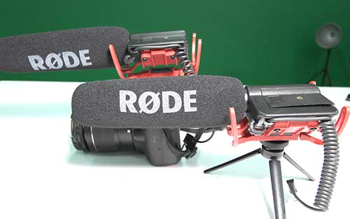 Rode Video Mic (x2) - This high quality mic is designed to work with most SLR cameras. It can also be mounted on a little tripod.