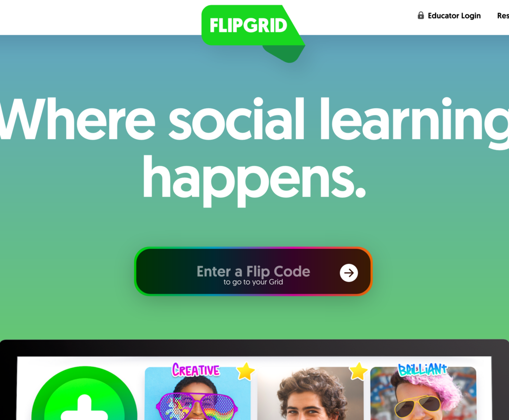 Flipgrid - lets students submit personal video response to any topic you choose.