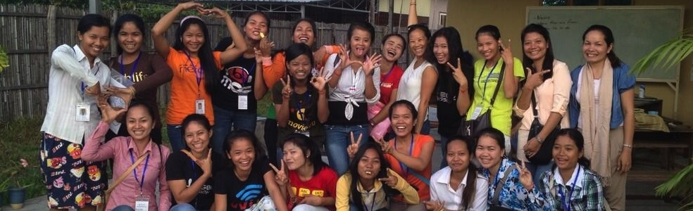 Craft House Director, Yvette Jong, with the female students of  EGBOK Mission