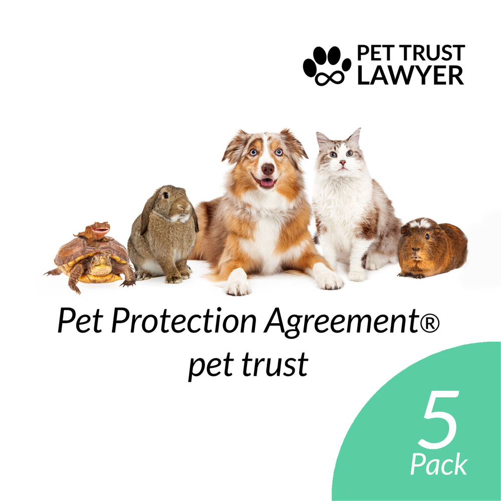 Pet Protection Agreement Pet Trust 5 Pack At 20 Each Pet Trust