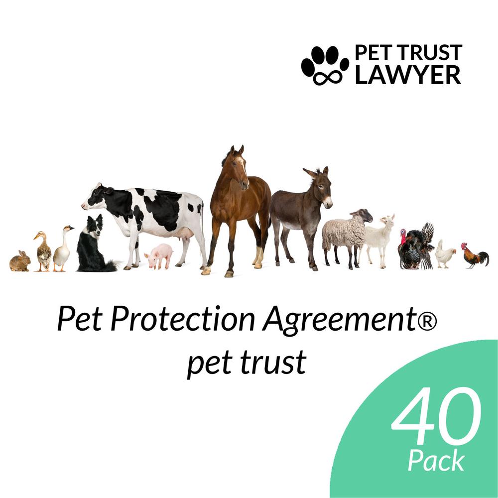 Pet Protection Agreement Pet Trust 40 Pack At 12 Each Pet