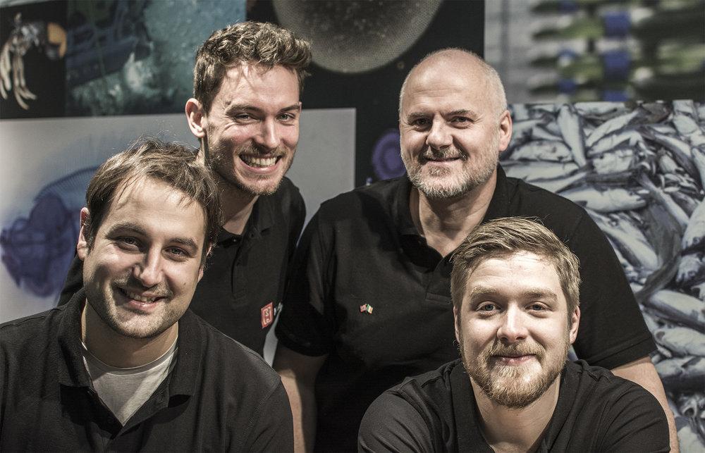 From the left: Carsten (XYZ), Georg (XYZ), Wayne (XYZ) and Emil (XYZ)