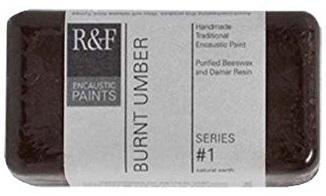 R&F Encaustic 40ml Paint, Burnt Umber