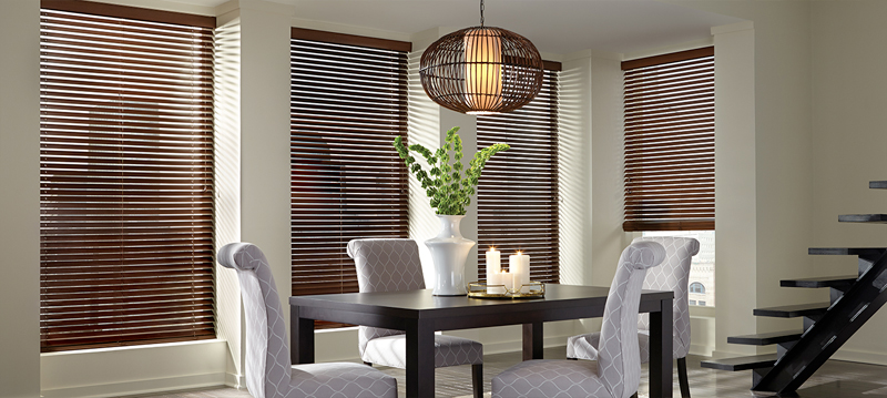 Why choose our horizontal blinds for your home? - Constructed from the finest woods, alternative woods and aluminium materials. We offer a large selection of slat sizes, stylish colours, paint and stain finishes and decorative tapes.