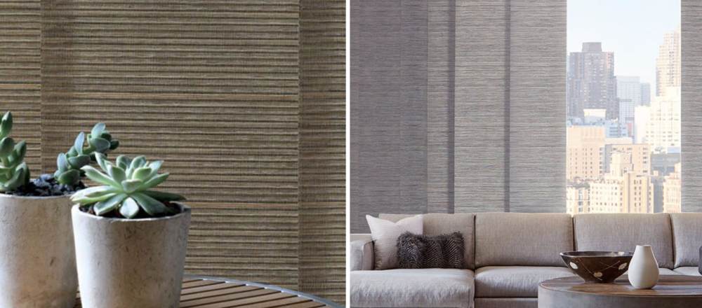 Skyline - Our Skyline® and The Alustra® Collection of Skyline® Gliding Window Panels are a patented twist on vertical blinds. A sleek, up-to-date design lends drama to any décor, whether covering large windows or when used as a unique room divider.