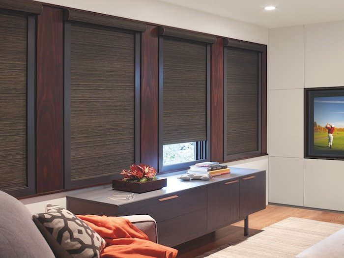 Designer Roller Shades with Room-Darkening Liner