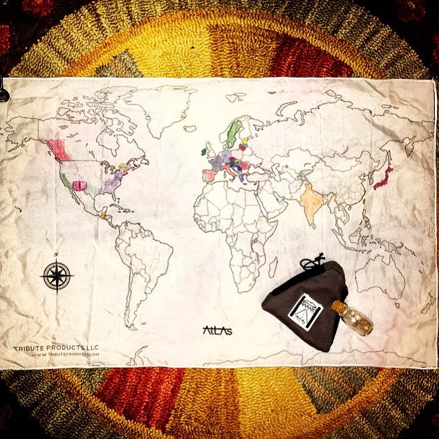 Atlas Travel Map - A Canvas that Tells the Whole Story...