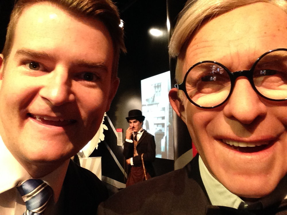 Canadian icon George Burns may be 119 years young, but his zingers haven't dulled one bit! And yes, that IS Canadian icon Charlie Chaplin behind us!